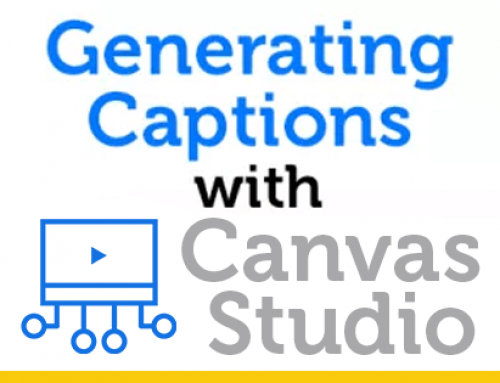Generating Captions with Canvas Studio