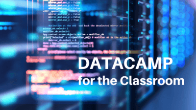 DATACAMP for the Classroom banner