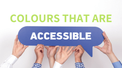 Colours that are accessible banner